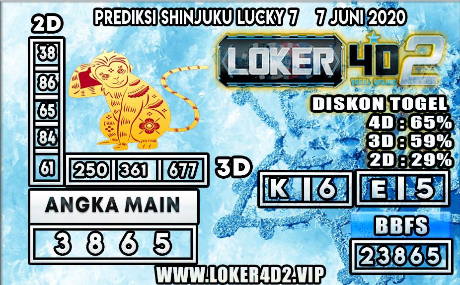PREDIKSI TOGEL SHINJUKU LUCKY7 LOKER4D2 7 JUNI 2020