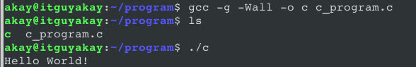 gcc options and flags in C programming