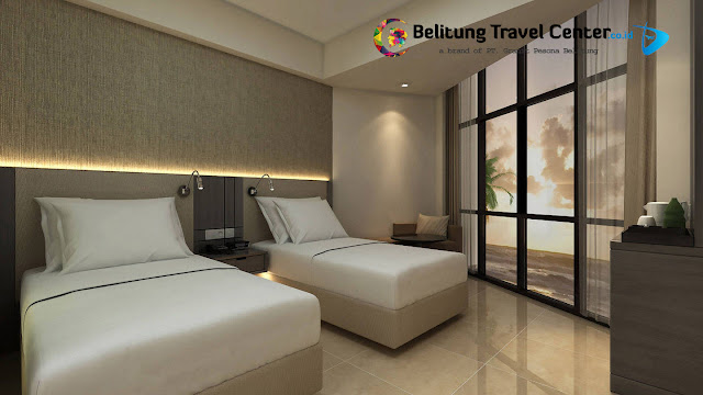 Kamar deluxe Ocean Twin - Hotel Fairfield by Marriott Belitung