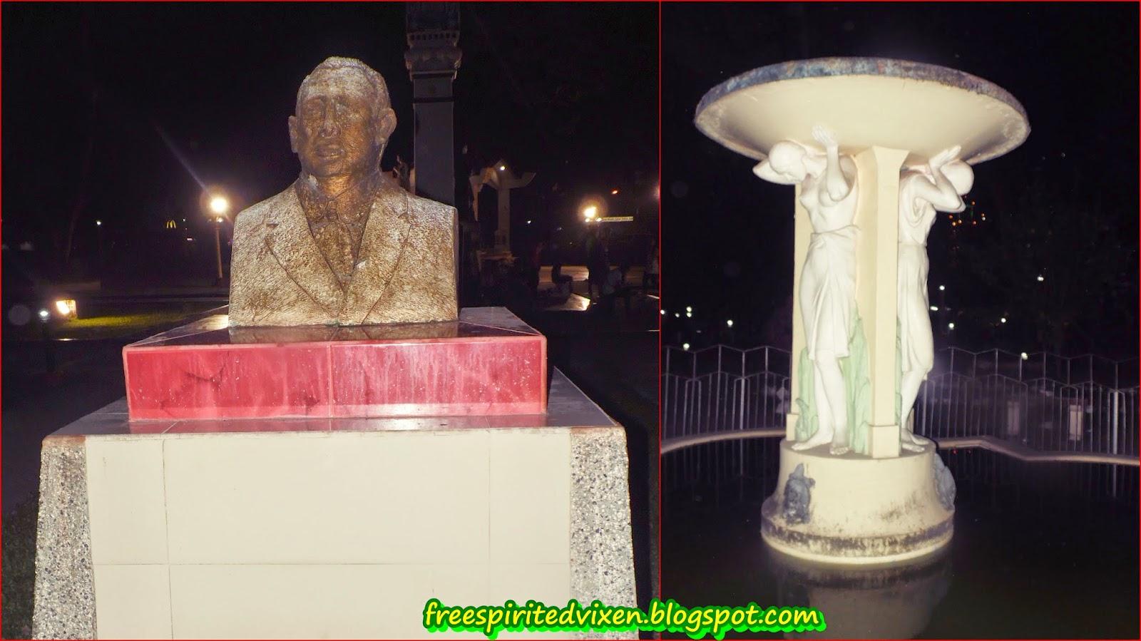 Quezon Statue, Maria Clara Statue, Quezon Park, Dumaguete