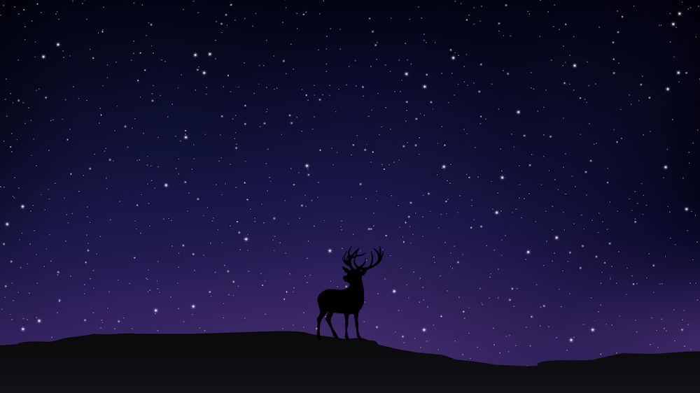 Background Wallpaper Hd 4k Night Sky And Deer Heroscreen Cool Wallpapers