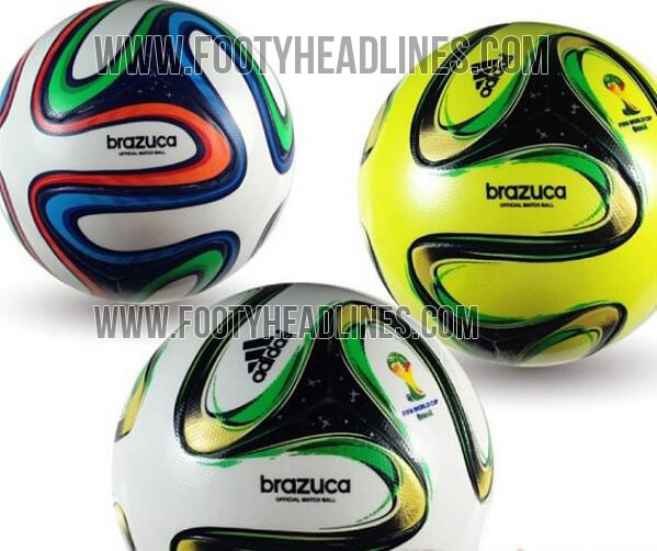 new concept 6a4d1 36311 The new Adidas Brazuca 2014 World Cup Official Matchball (OMB) features a  completly new and a never seen before Panel Design with only six panels.