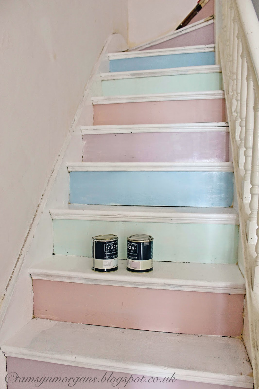 Work in Progress – Pastel Staircase