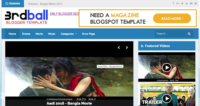 3rdball Blogger Video Template Free Download