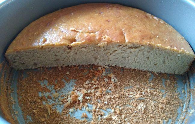 chestnut custard cake