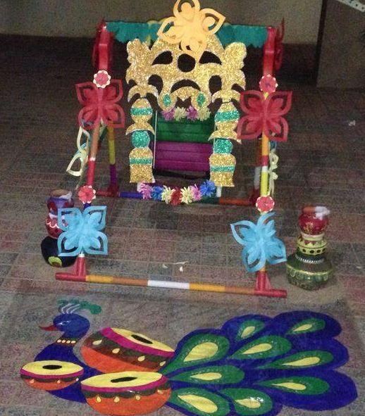 janmashtami-decoration-at-home-rangoli