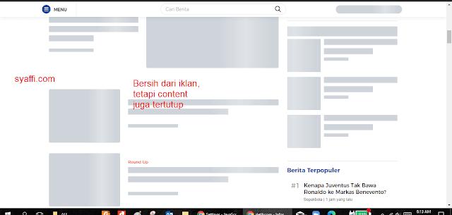 Cara Browsing Tanpa Ada iklan di Google Chrome dengan menonaktifkan JavaScript