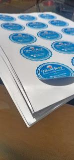 Contoh Desain Logo Olshop Biru Bulat - Jasa Desain Online