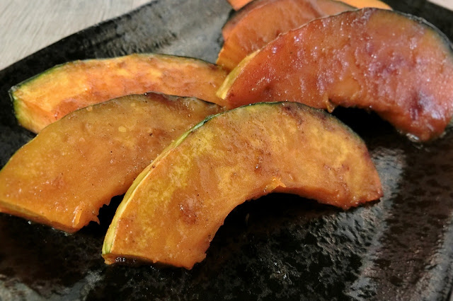 ハウス禁断の黒コショウでレモン風味かぼちゃソテー