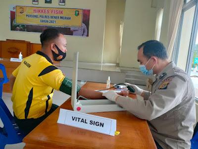 Pemeriksaan Kesehatan Berkala Personil Polres Bener Meriah
