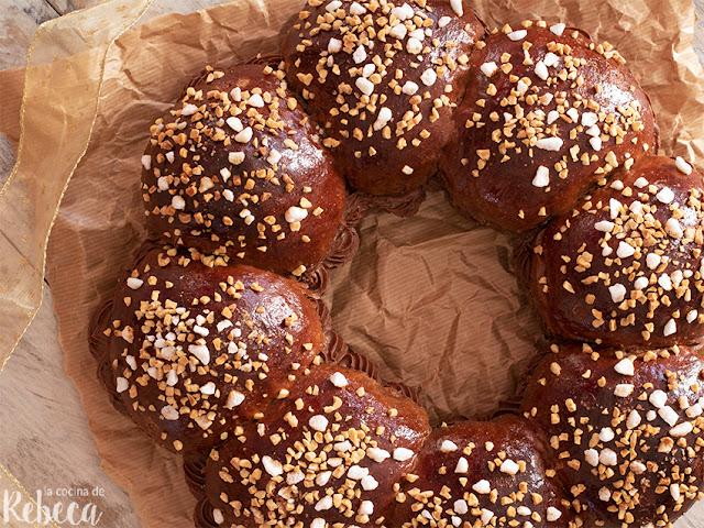 Roscón de Reyes de chocolate