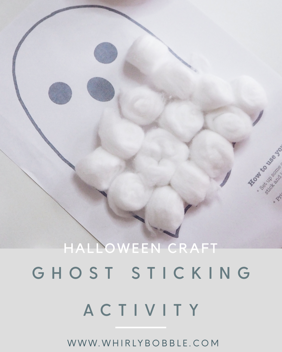 Free printable - Halloween sticking activity