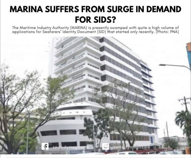MARINA Suffers from Surge in Demand for Seafarers' Identity Document (SID)