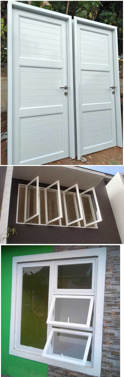 jendela swing, casement, rolling door, dll