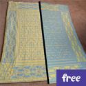 Reversible Celtic Patterns Baby Blanket (free)
