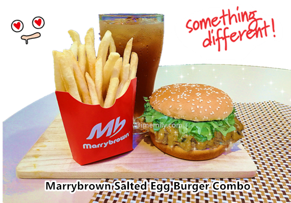 Marrybrown Salted Egg Burger