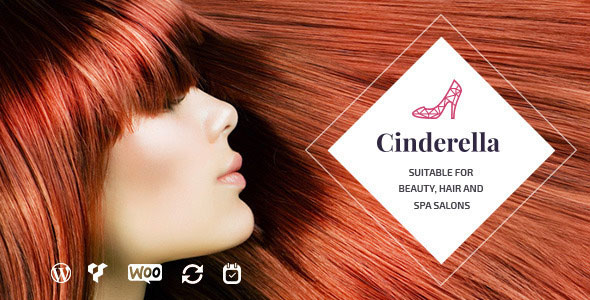 Free Download latest version of Cinderella V1.4.1 Wordpress Theme for Beauty, Hair and SPA Salons