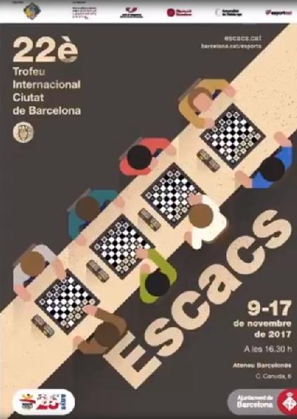 Cartel del Torneo Magistral Internacional Ciudad de Barcelona 2017