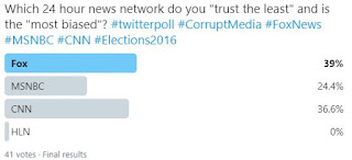 Twitter poll fake news networks