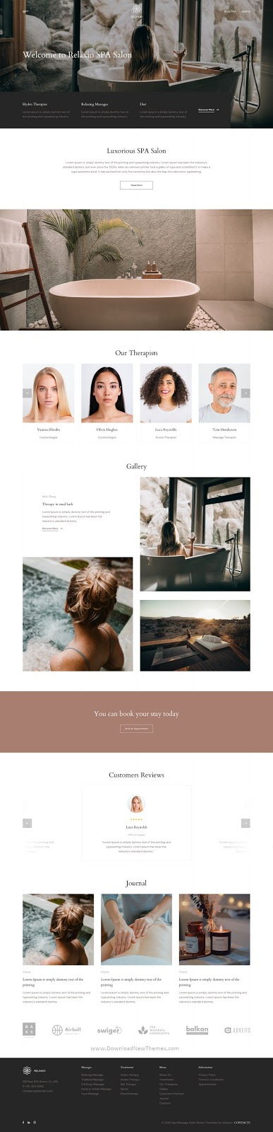 Spa Massage Salon Adobe XD Template