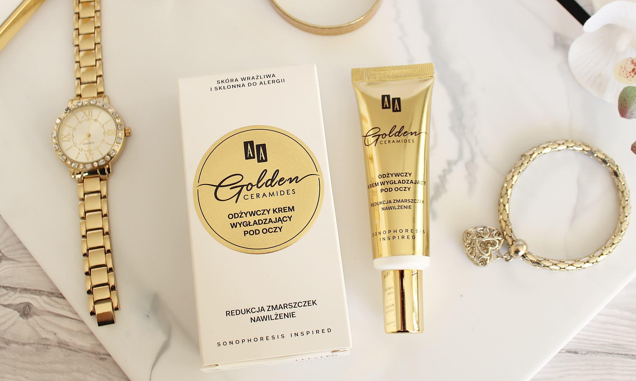 AA Golden Ceramides Odżywczy krem wygładzający pod oczy
