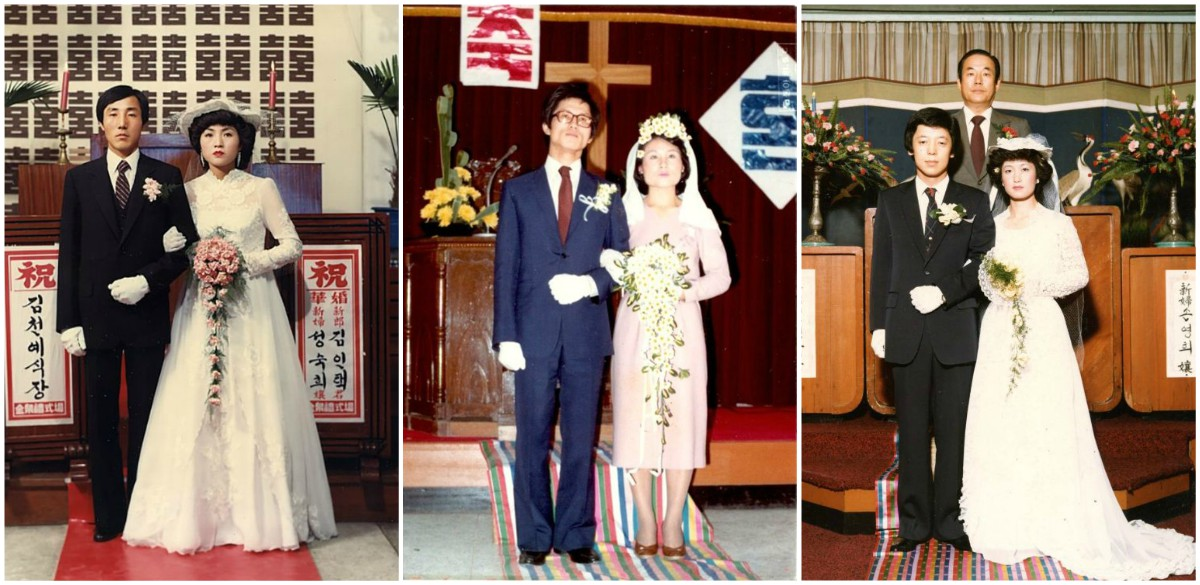 26 Interesting Vintage Photos That Show South Korean Weddings in the 1970s and 1980s