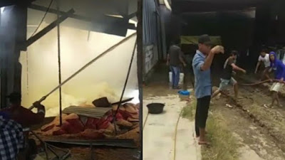 Pabrik Terbakar di Bone, Puluhan Karung Jagung Ludes