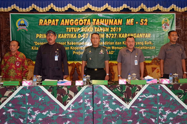 KodimKaranganyar - RAT ke 52 Tutup Buku Tahun 2019 Primkop Kartika D-07 Kodim 0727 Karanganyar