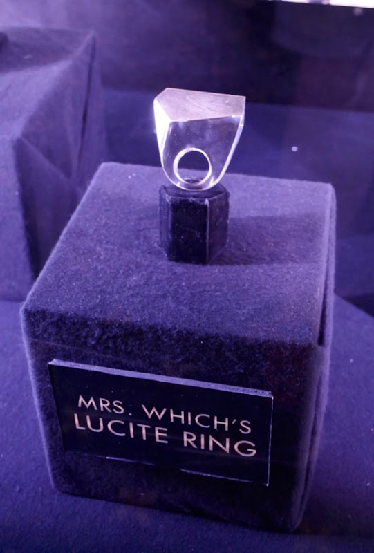 Mrs Which Lucite ring A Wrinkle in Time
