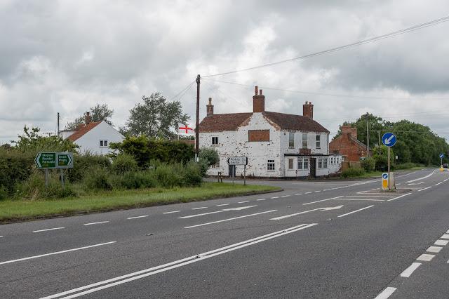 St George's flag at The Midge Inn