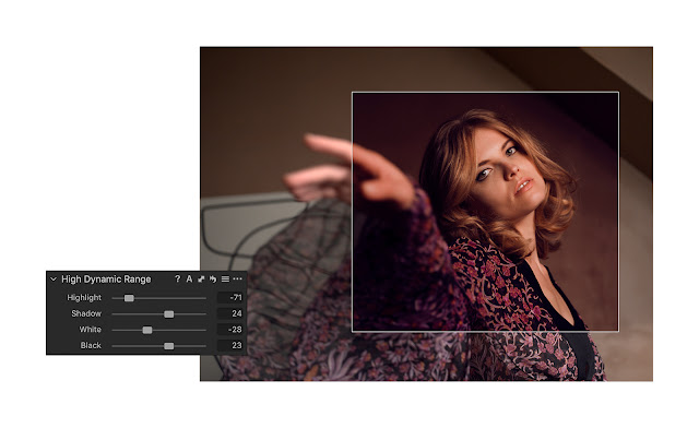 The updated Capture One High Dynamic Range tool can easily adjust highlights and shadows