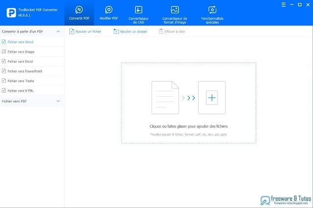 ToolRocket PDF Converter : un logiciel multi-fonctions pour le PDF