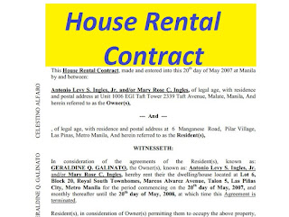 House Rental Contract Free To Print Doc And Pdf Sample