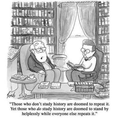 Meme de humor sobre historiadores