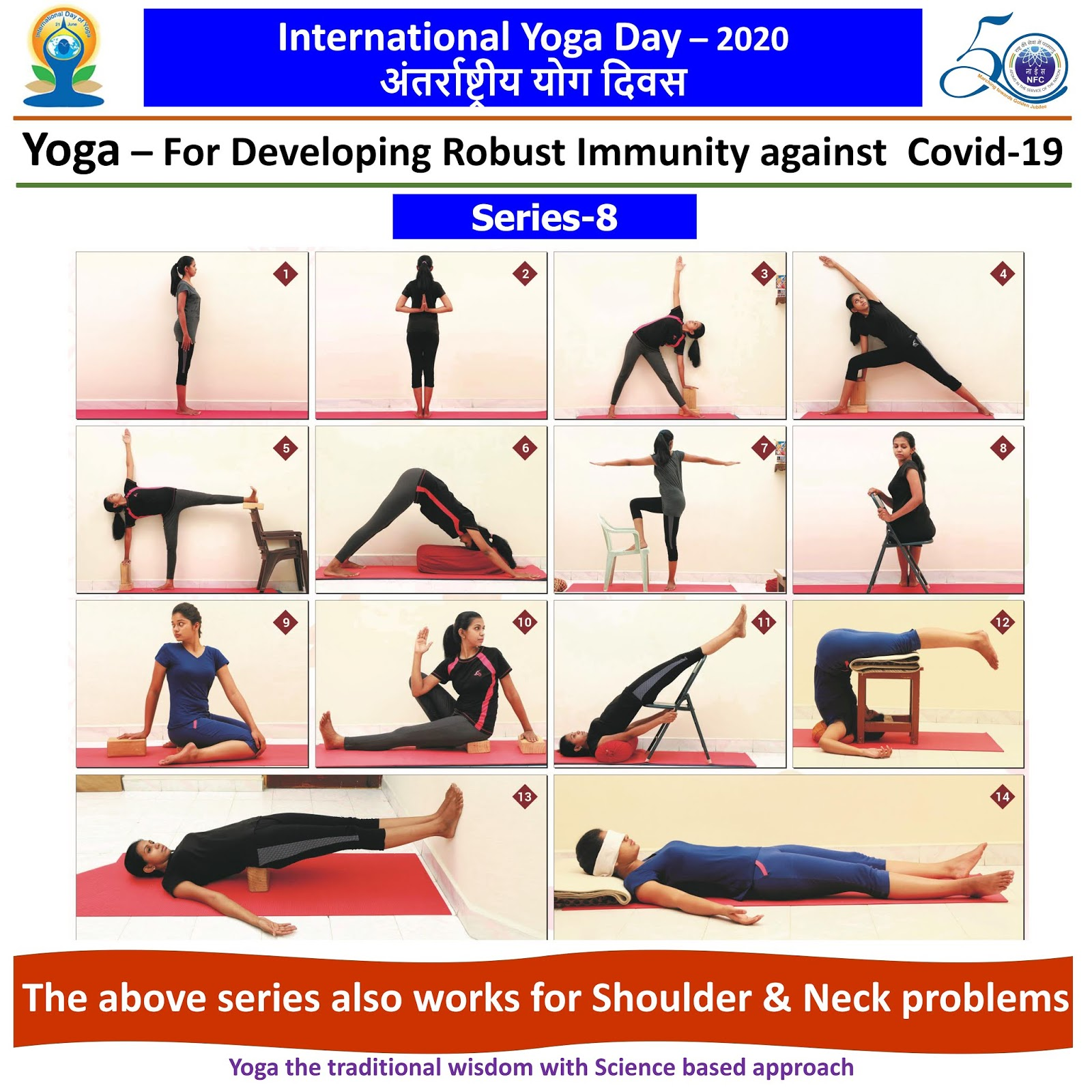 Happy International Yoga Day ... This series also works for Shoulder & Neck Problems  IMAGES, GIF, ANIMATED GIF, WALLPAPER, STICKER FOR WHATSAPP & FACEBOOK