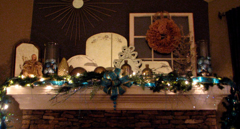 Christmas Tree Made Of Lights On Wall
