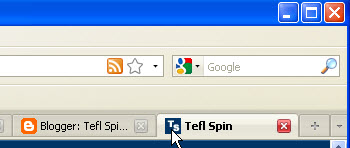 try to drag tab favicon