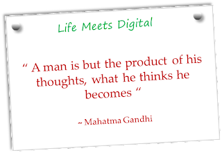 quote on a man by Mahatma Gandhi