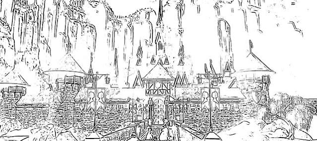 Frozen castle views coloring pages holiday.filminspector.com