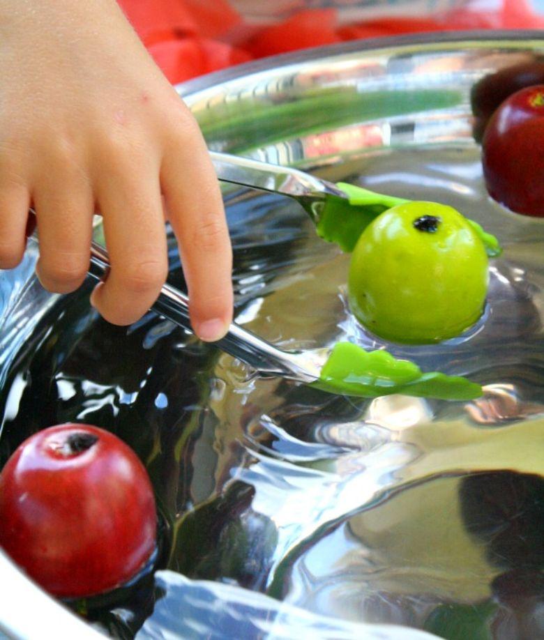 Apple fine motor autumn activity for kids