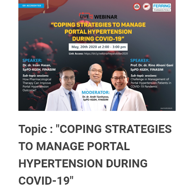 """SKP IDI Gratis: Topic : """"COPING STRATEGIES TO MANAGE PORTAL HYPERTENSION DURING COVID-19"""""""
