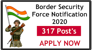 Border Security Force notification for 317 posts Apply now