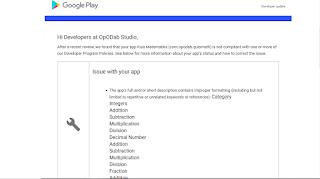 Memperbaiki Aplikasi Yang di Tolak Playstore Karena Pelanggaran Metadata