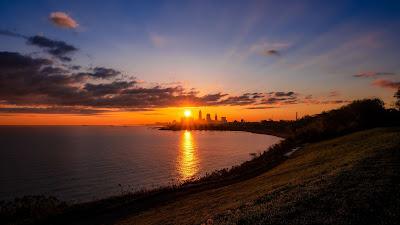 Wallpaper City Landscape Sunset Horizon Free HD