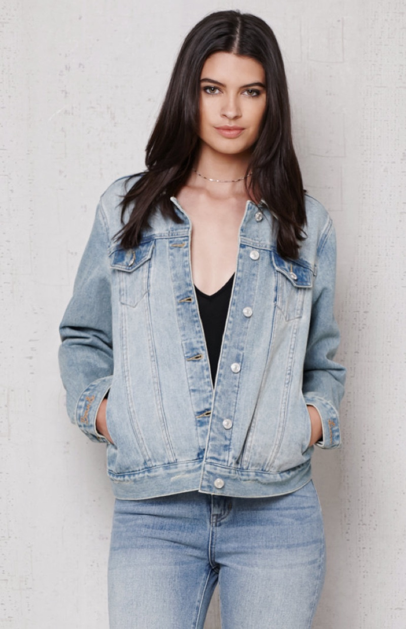 PacSun Printed Back Denim Jacket