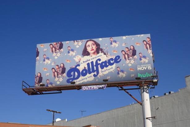 Dollface series premiere billboard