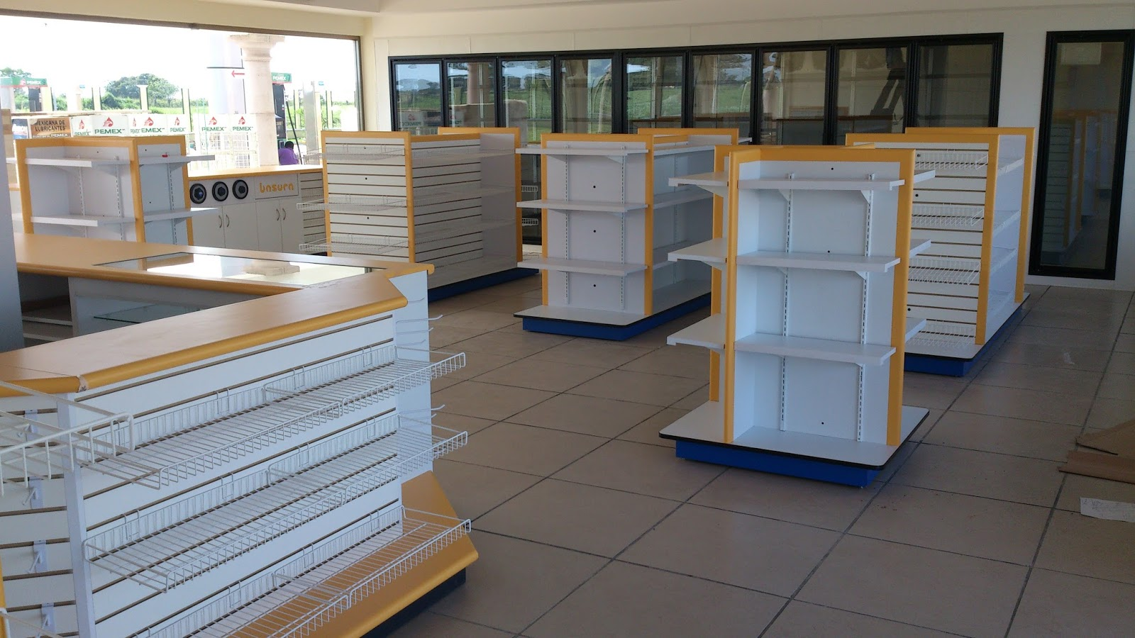 Muebles de tiendas mobiliario de tiendas tipo oxxo - Muebles de chapa metalica ...