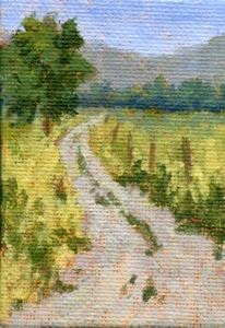 art painting mini road rural countryside farm ranch