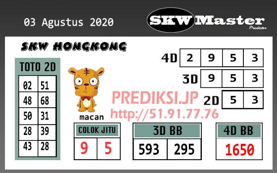 Skw Master HK Senin 03 Agustus 2020