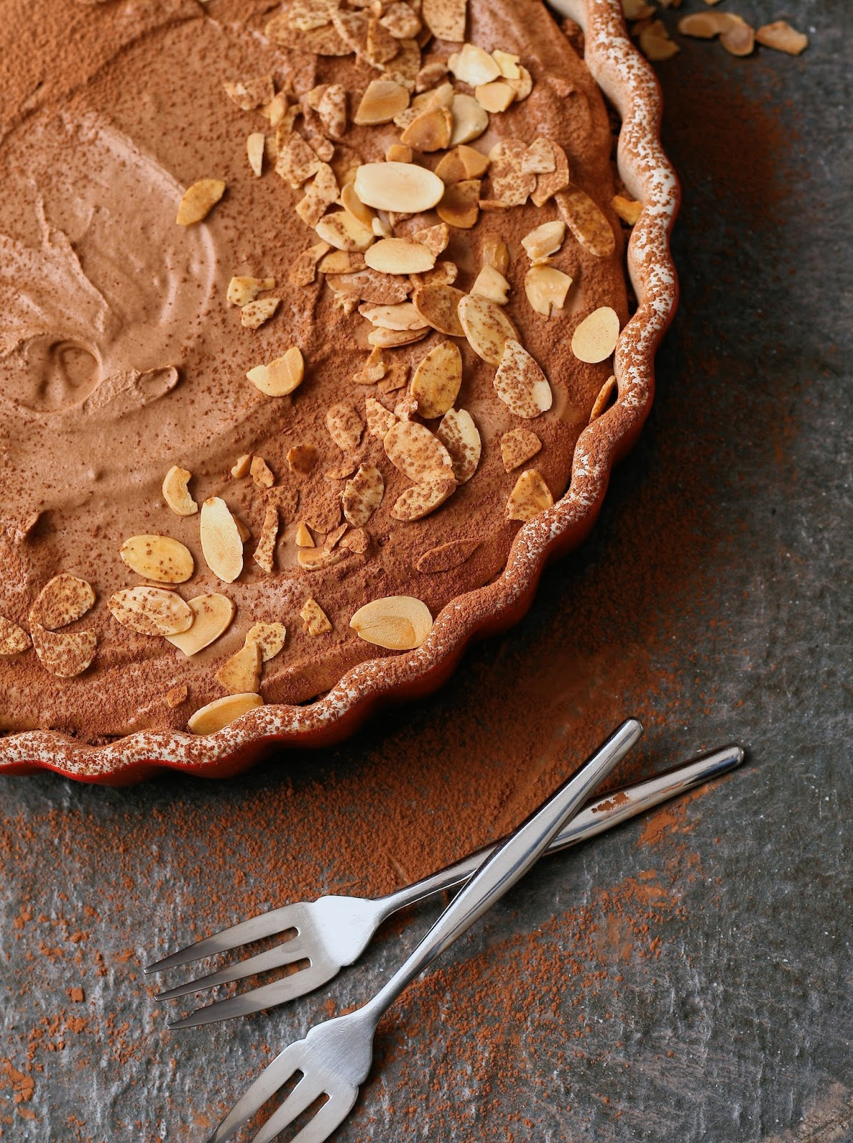 Low carb low sugar chocolate tart